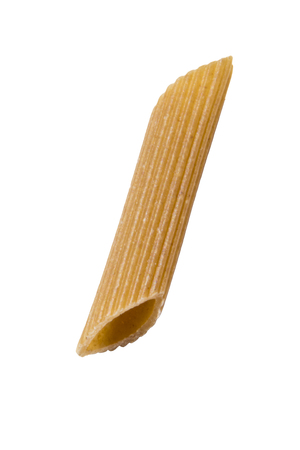 one penne pasta isolated on white background 版權商用圖片