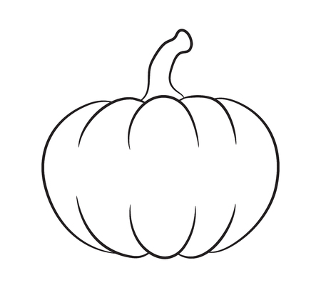 pumpkin outline vector  design isolated on white background