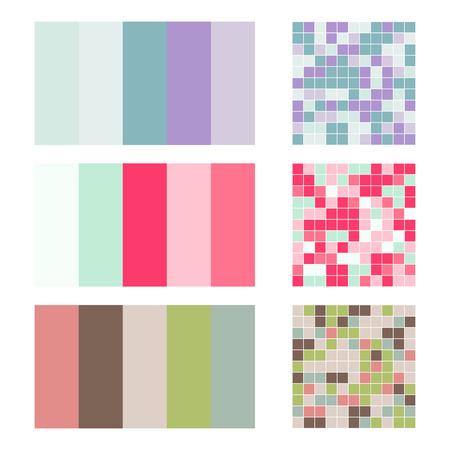 Colored palette card design.