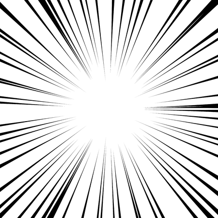 Comic radial speed lines vector background wallpaper
