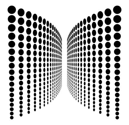Dot line halftone pattern design, dotted background 일러스트
