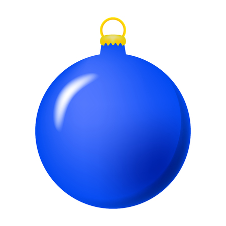 Simple Bauble for christmas tree isolated on white background