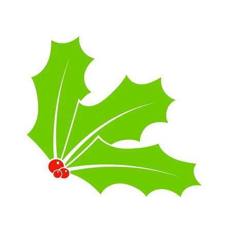 Holly berry for christmas isolated on white background