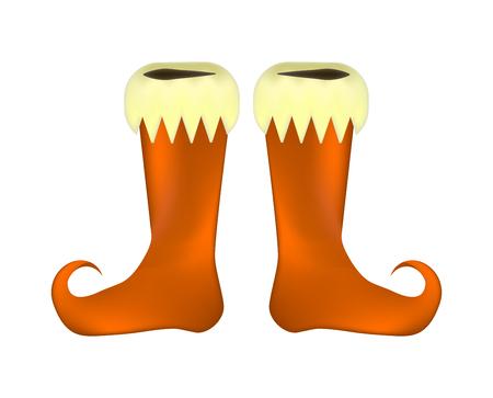 Elf shoes pair design on white background, vector illustration. Illustration