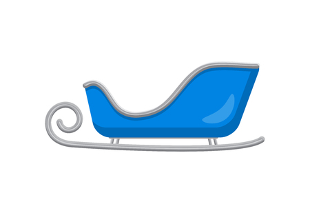 Blue Santa sleigh Illustration
