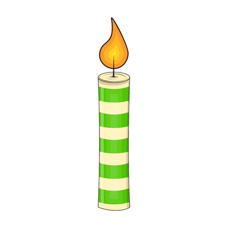 Christmas candle icon.
