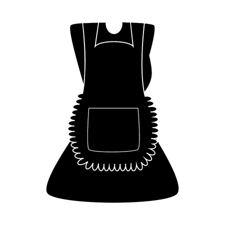 Cartoon dress with pinafore silhouette isolated on white background