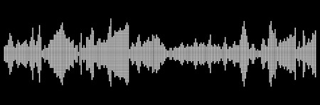 sound wave isolated on black background