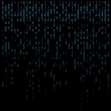 binary digits falling background