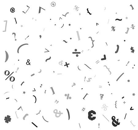 random special sign, colon alphabet beautiful background design Illustration