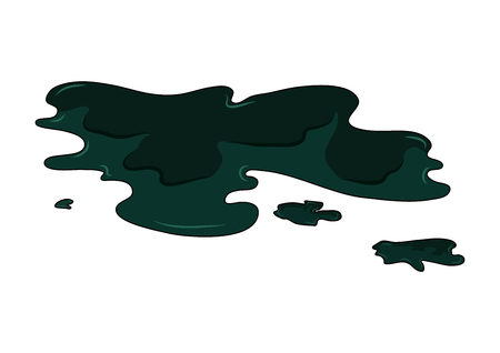 Oil puddle simple vector design isolated on white 스톡 콘텐츠 - 103239896