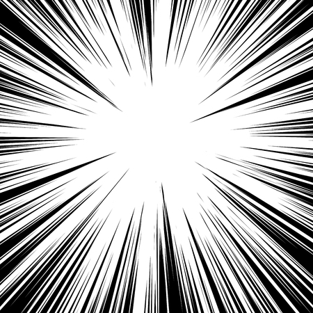 radial lines for comic book vector explosion texture design Illustration