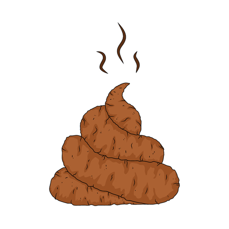 cartoon poop, shit design isolated on white background