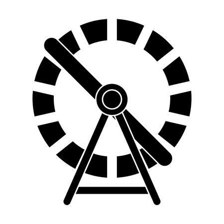 hamster wheel silhouette design isolated on white background Standard-Bild - 103856000