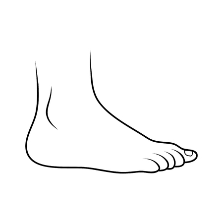 foot icon outline design isolated on white background