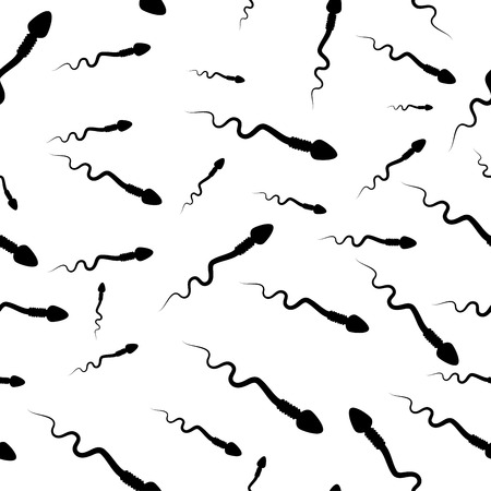 cartoon spermatozoid, sperm seamless  vector background design