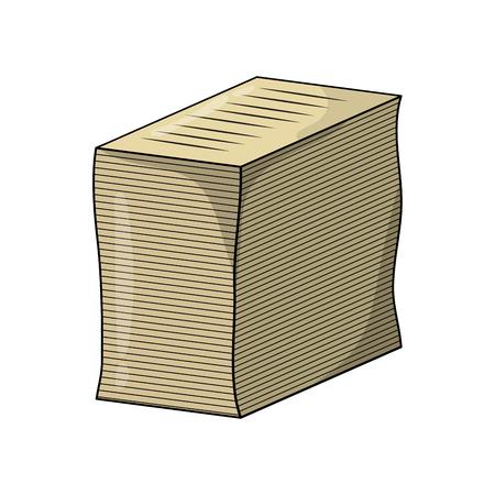 heap of paperwork sheet cartoon vector design isolated on white background Vektoros illusztráció
