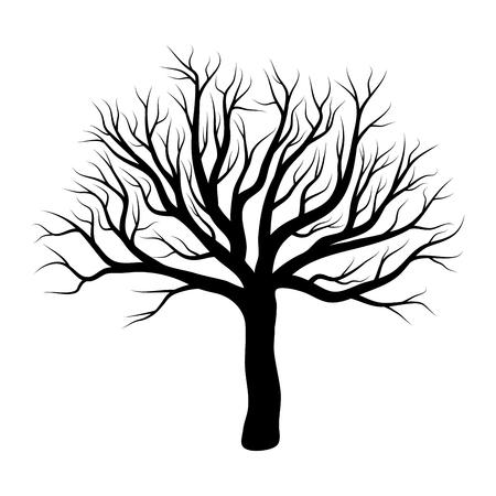 projekt drzewa zima na białym tle