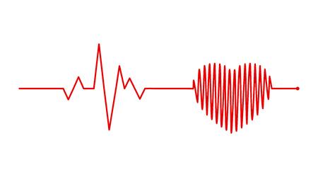 heart rhythm, Electrocardiogram, ECG - EKG signal, Heart Beat pulse line concept design isolated on white background Stock Vector - 112511049