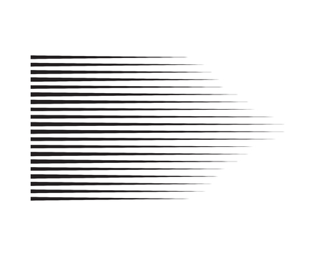 Perspective speed motion lines. wavy horizontal comic manga style abstract background