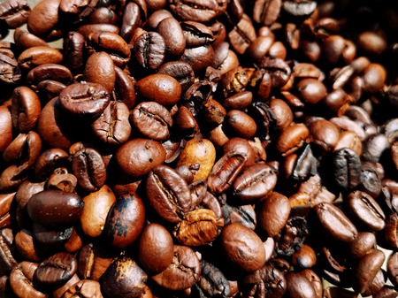 coffee roast beans full frame, background, wallpaper