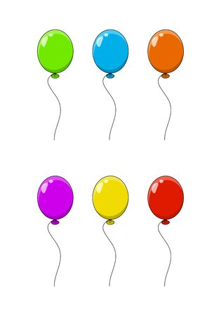set balloon cartoon illustration  isolated on white background