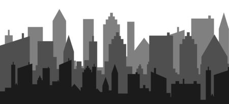 City skyline vector illustration. Urban landscape.skyscraper view silhouette design