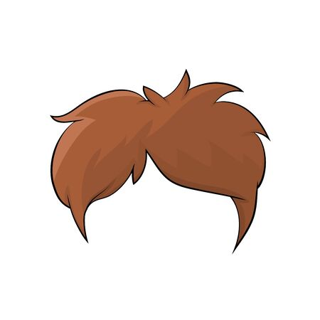 boy hairstyle, hair isolated cartoon design isolated on white background