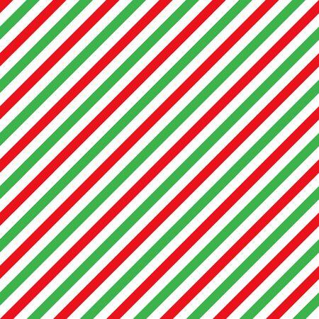 Bastón de caramelo rayas diagonales rojo verde blanco de patrones sin fisuras fondo de Navidad