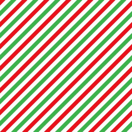 Cane candy diagonal stripes red green white seamless pattern christmas background