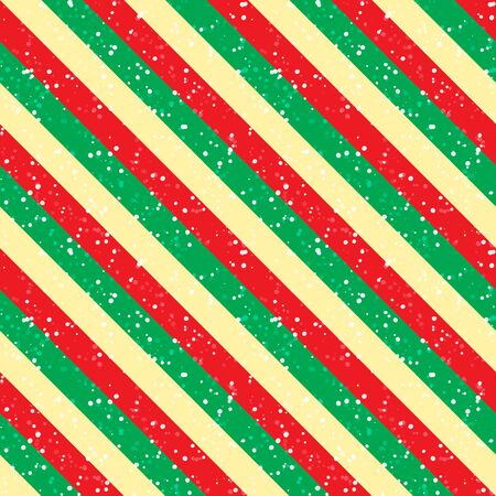 Abstract diagonal tradicional color Merry Christmas background with snow. Seamless pattern Geometric lines template. Texture can be used for wallpaper, pattern fills, web page for New Year