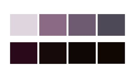 Black Color harmony Shade and Ligths palette for cartoon design. Template to pick color swatches.