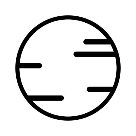 Space Planet icon outline vector isolated on white background. line planet symbol illustration. Linear design for use on web and Mobile apps,