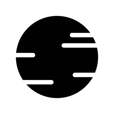 Space Planet icon silhouette vector isolated on white background. black planet symbol illustration. design for use on web and Mobile apps,  Çizim