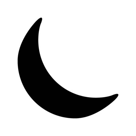crescent moon silhouette vector symbol icon design. illustration isolated on white background