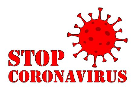 Stop Coronavirus Text. Coronavirus. Caution Corona-virus. Public Health Risk. The fight against coronavirus. No Infection and Stop Coronavirus Concepts.