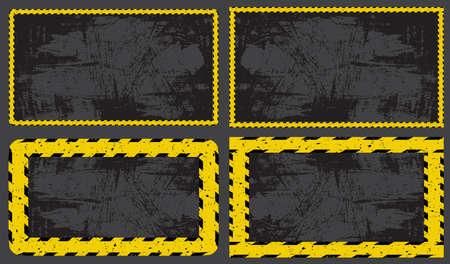dark construction background set