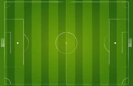 Green grass soccer field background. Vector EPS10 illustration.