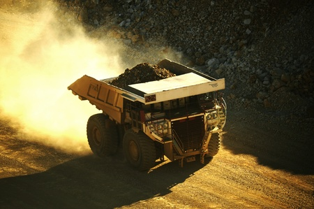 mijnbouw: Heavy Duty Mining Truck. One of the World