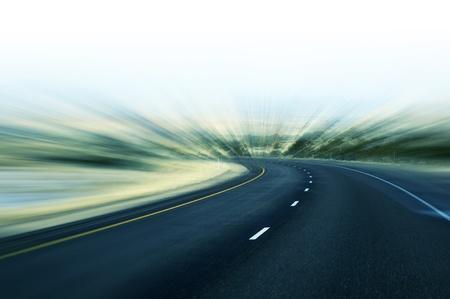 fast lane: Carretera r�pido movimiento abstracto desenfoque de fondo carretera. Transporte del tema.