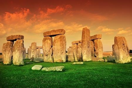 chronologie: Le Stonehenge. Fermer horizontale Photographie Stonehenge. Stonehenge Monument. Royaume-Uni. L'Europe.