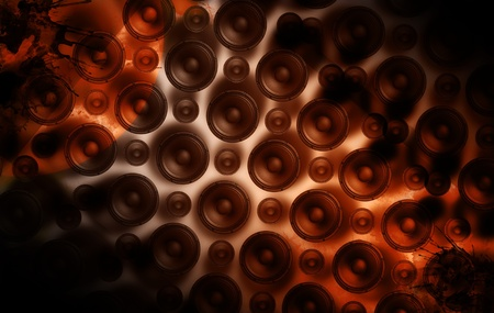 Speakers Wall - Cool Grunge Speakers-Music Theme. Perfect Background For Techno Party, Rock Party etc. Stock Photo - 10642459
