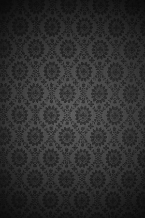 meshy: Vertical Meshy Metal Background with Floral Pattern.