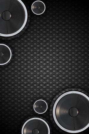 abstract music: Cool Verticale Speakers Achtergrond. Vintage-Retro Bloemen achtergrond patroon. Abstracte Music Design met Copy Space. Stockfoto