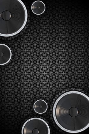 Cool Vertical Speakers Background. Vintage-Retro Floral Background Pattern. Abstract Music Design with Copy Space.