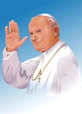 Blessed Pope John Paul II, born Karol J�zef Wojtyła (18 May 1920 � 2 April 2005), known as Blessed John Paul II. Pope John Paul II Illustration. Editorial
