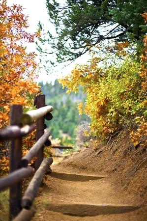 Mountain Trail. Manitou Springs, Colorado USA. Fall in Colorado