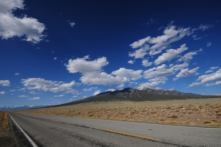 colorado landscape: Colorado Highway. Colorado Landscape