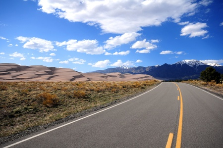 colo: Great Sand Dunes National Park, Colorado USA. On the Road.