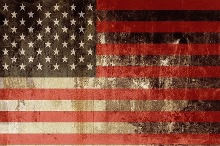 americana: American Flag - United States of America Flag Illustration. Stock Photo